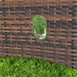 Verstellbarer Polyrattan Sessel inkl. Kissen Braun Pic:4