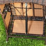 Verstellbarer Polyrattan Sessel inkl. Kissen Braun Pic:5