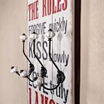 Shabby Wand Flur Garderobe + 6 Kleiderhaken - Laug Pic:1