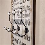Shabby Wand Flur Garderobe + 6 Kleiderhaken - Berl Pic:1