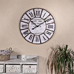 Nostalgie Wanduhr Uhr Holz und Metall schwarz/weiß