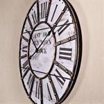 Nostalgie Wanduhr Uhr Holz und Metall schwarz/weiß Pic:1