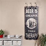 Shabby Wand Flur Garderobe + 6 Kleiderhaken - Beer