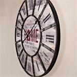 Antike Wanduhr Uhr aus Holz und Metall shabby Pic:1