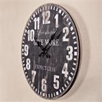 Shabby Wanduhr Uhr Holz  -  Expectless Schwarz Pic:1