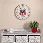 Shabby Wanduhr Uhr aus Holz  - Route 66