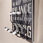 Shabby Wand Flur Garderobe + 3 Kleiderhaken - Life Pic:1