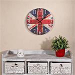 Shabby Wanduhr Uhr aus Holz  - Keep Calm UK
