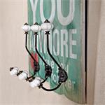 Shabby Wand Flur Garderobe + 3 Kleiderhaken - Like Pic:1