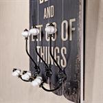 Shabby Wand Flur Garderobe + 3 Kleiderhaken - Brea Pic:1