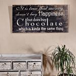 Shabby Wand Bild Board aus Holz Querformat- Choco