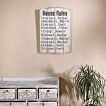 Shabby Wand Bild Board aus Holz - House Rules