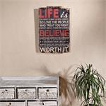 Shabby Wand Bild Board aus Holz - Life Believe
