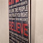 Shabby Wand Bild Board aus Holz - Life Believe Pic:1