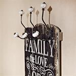 Shabby Wand Garderobe + 6 Kleiderhaken - love of f Pic:1