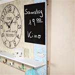 Shabby Wandbild mit Tafel, großer Uhr und Haken Pic:1