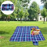 Picknickdecke - 2 x 2 m - Schwarz / Blau