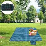 Picknickdecke - 2 x 2 m - Dunkelgrün