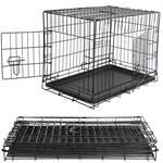 XXL Hundetransportbox Hundeklappkäfig schwarz