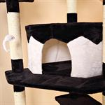 2 Colours 2.03 m Jumbo XXL Scratch Tree Cats Scratching Post Game Sisal Black Pic:1