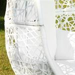 Polyrattan Swing Chair Hängesessel - weiß Pic:2