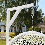 Polyrattan Swing Chair Hängesessel - weiß Pic:3