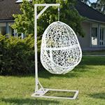 Polyrattan Swing Chair Hängesessel - weiß Pic:1