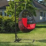 Polyrattan Swing Chair Hängesessel - schwarz