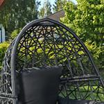 Polyrattan Swing Chair Hängesessel - schwarz Pic:3