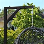 Polyrattan Swing Chair Hängesessel - schwarz Pic:4