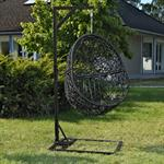 Polyrattan Swing Chair Hängesessel - schwarz Pic:1