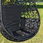 Polyrattan Swing Chair Hängesessel - schwarz Pic:2