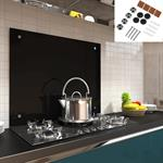 90x50CM Glas Küchenrückwand Spritzschutz - schwarz
