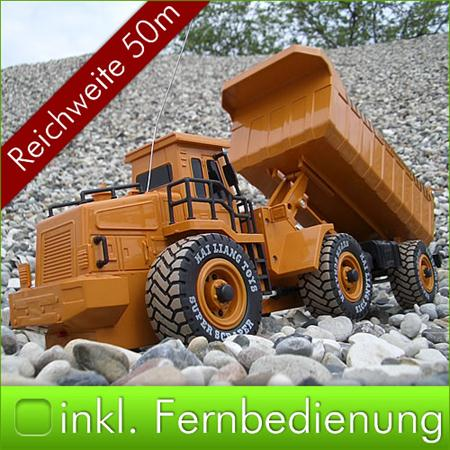 RC Dump Truck Bulldozer Remote-Controlled Dumper Construction Vehicle