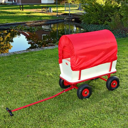 XXL Hand Cart Transport Trolley Wagon Plus Seat Area