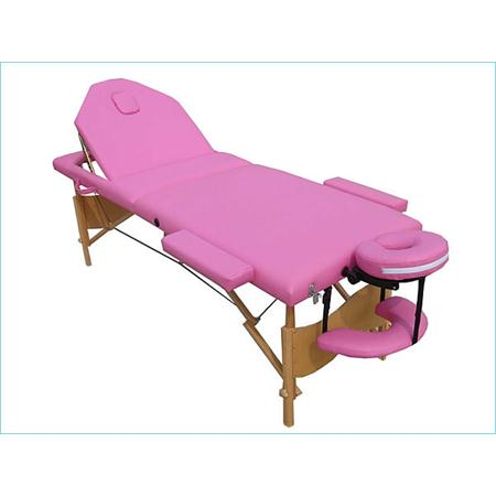 Aluminium 3 Zones Mobile Folding Portable Massage Table Couch Sofa Pink + Bag
