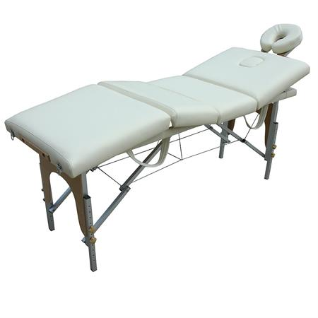 4 ZONEN ALUMINIUM MOBILE MASSAGELIEGE CREME