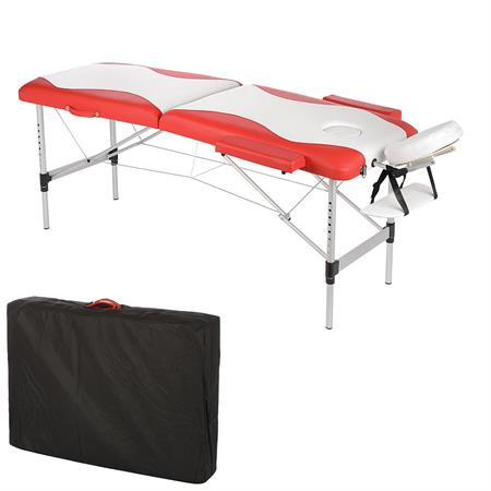 Aluminium 2 Zones Massage Table Bed Counch Alu Bank White/Red only 12.5 KG