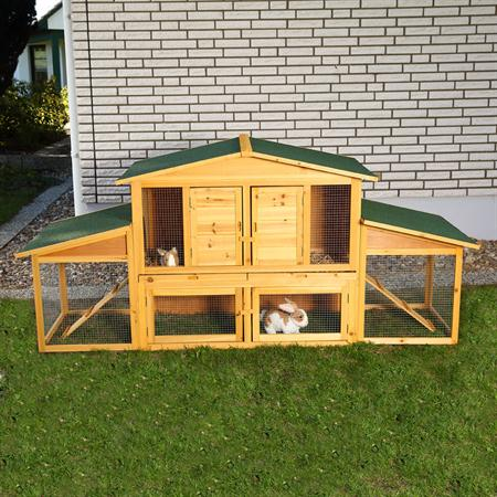 XXL Bunny Rabbit/Guinea Pig Pet Hutch Double 2 Tier House Cage Pen