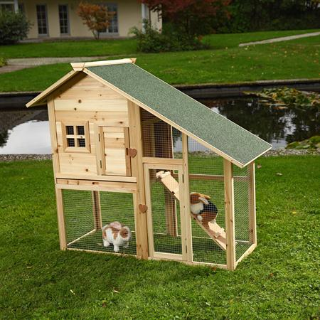 Rabbit Hutch Rabbits Bunnies Cage Small Pet Hutch Rabbit Cage