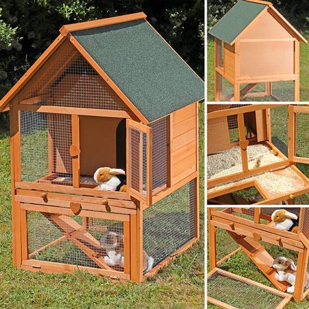 XL - 2 Stories - Small Animal Cage Rabbit Hutch