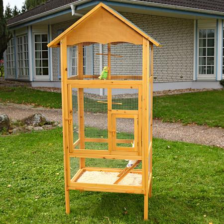 Large Outdoor Bird Aviary House Cage Breeding Coop Wood/Wire