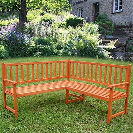 Wooden Corner Bench Seat Outdoor Garden Furniture Seater