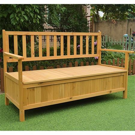 Wooden Outdoor Chest Bench Garden/Patio Furniture Storage Box Seater