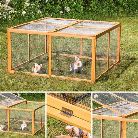 Wooden Outdoor Enclosure Open-Air Enclosure Rabbit Hutch Rabbit Cage