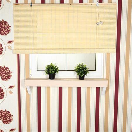 80x160 Bamboo Roman Shade Roller Blind Window Shades Wooden Blackout Jalousie
