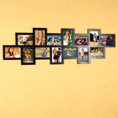 Fotogalerie Bilderrahmen Collage Rahmen schwarz
