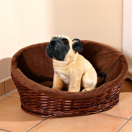 M Puppy Dog/Cat/Pet Animal Basket Bed Sofa Wicker Handmade + Cushion/Pillow