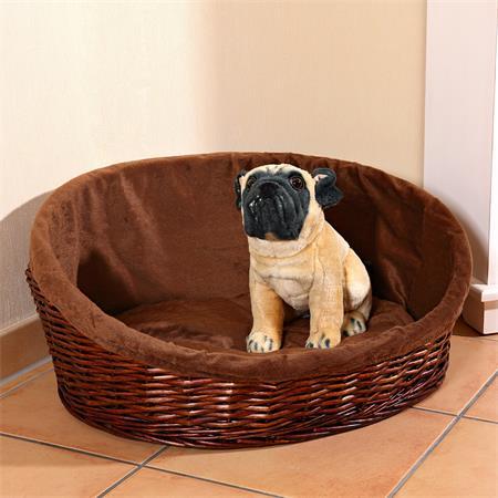 XL Puppy Dog/Cat/Pet Animal Basket Bed Sofa Wicker Handmade + Cushion/Pillow