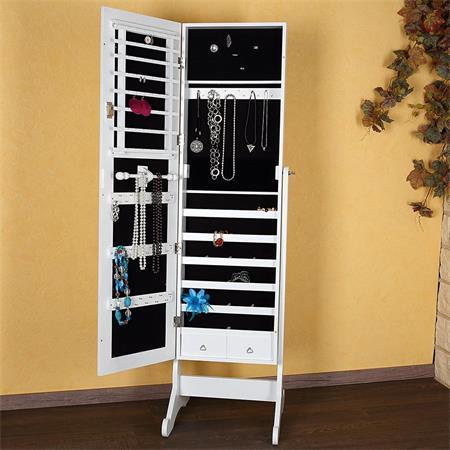 xl spiegel schmuckschrank schrank schmuck weiss. Black Bedroom Furniture Sets. Home Design Ideas
